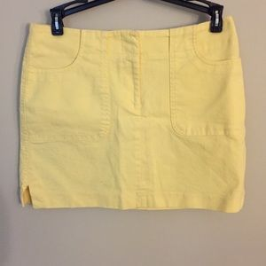 Yellow Express Stretch Mini Skirt